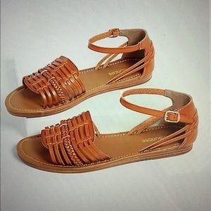 Maurices Alice Huarache Tan Sandals Sz 8.5